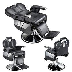 Presale 15% off Heavey Duty барбершоп магазин стул для парикмахерской татуировки Красота резьбы бритья наклонное назад удобное кресло черный