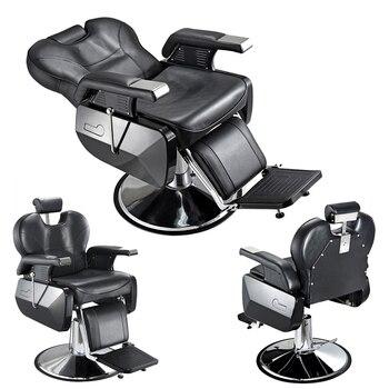 Voorverkoop 15% off Heavey Duty Barbershop Winkel Salon Kapper Stoel Tattoo Beauty Threading Scheren Kantelen Terug Comfort Stoel Zwart