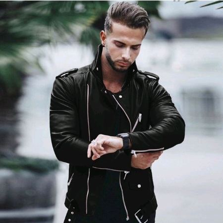 Men's Motorcycle PU Leather Jackets Men Leather Autumn Winter Slim Fit Jackets Male Business Fitness Casual Coats Plus Size 5XL