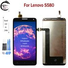 """5.0 """"yeni LCD Lenovo S580 S 580 lcd ekran ekran dokunmatik sensör Digitizer meclisi değiştirme Lenovo S580 tam ekran"""
