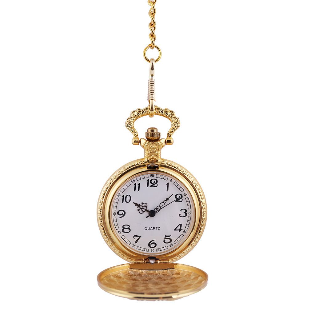 Men And Women Couple Pocket Watch Retro Quartz Hanging Table Commemorative Table Watch Clock Wholesale Relogio De Bolso #4D23