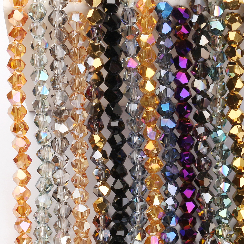 Austrian Crystal Faceted <font><b>Beads</b></font> 6/<font><b>8mm</b></font> Natural Stone <font><b>Beads</b></font> Glass Loose <font><b>Bead</b></font> China Jewelry DIY Making Accessories Wholesale In <font><b>Bulk</b></font> image