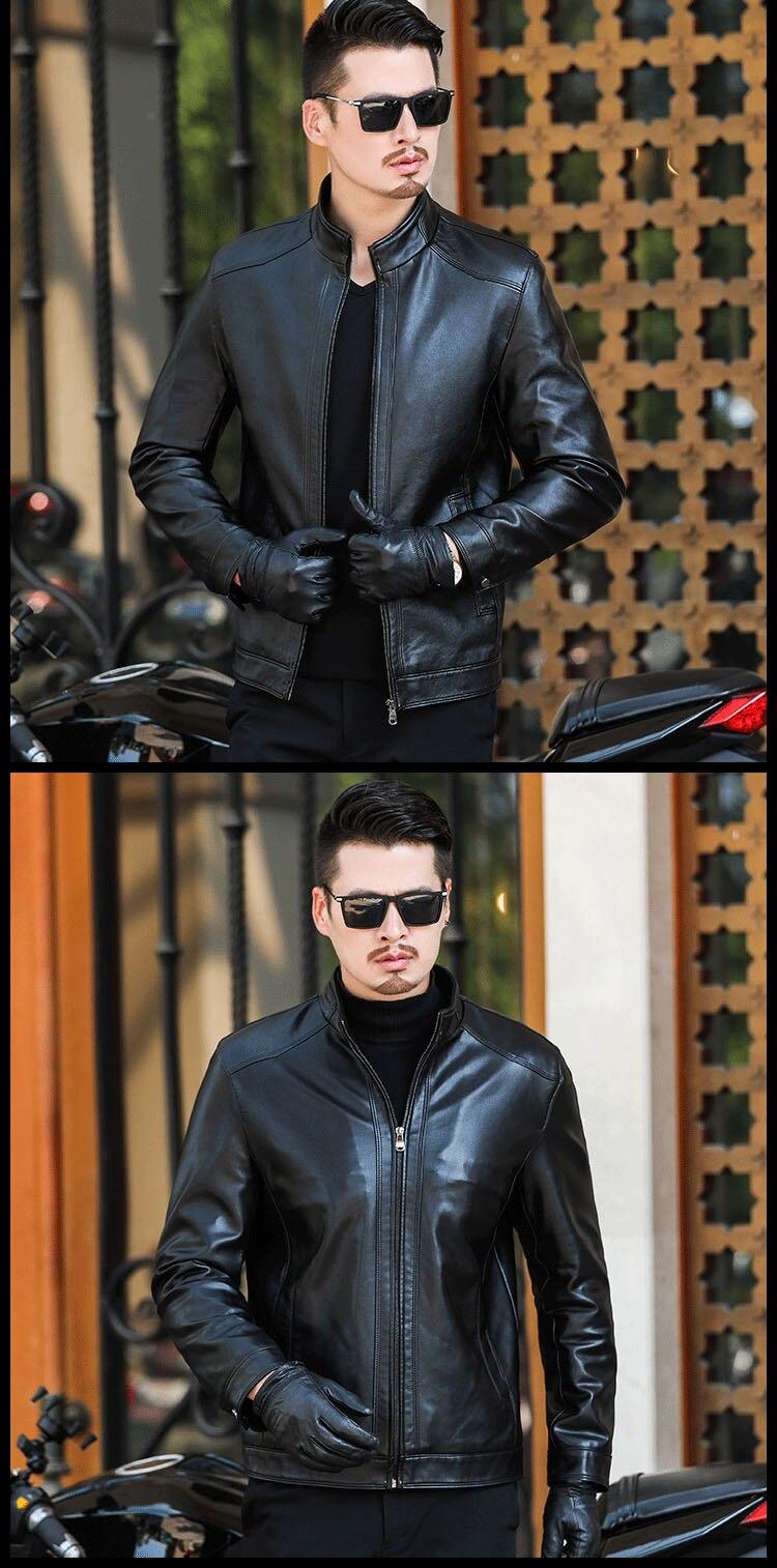 H0a16a16c54064914a6bee5aabcbf1f12I Plus size men genuine leather jacket 4XL 5XL 6XL 2020 spring and autumn zipper male sheepskin leather jacket father outwear P07