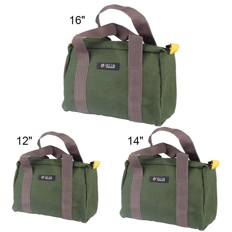 Multifunction Tool Organizer Waterproof Oxford Canvas Hand Tool Storage Carry Bags Portable Pliers Metal Parts HardwareToolkit