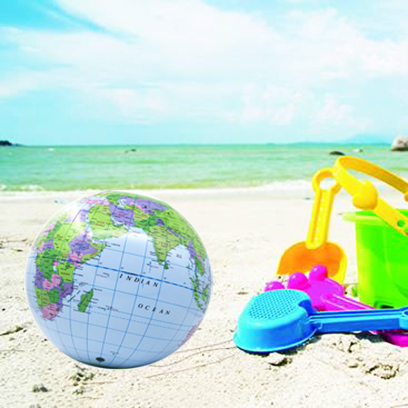 English Version Inflatable Globe Model Beach Ball PVC World Map Children Teaching Outdoor Toy Kids Boy Gift Playing With Seaside