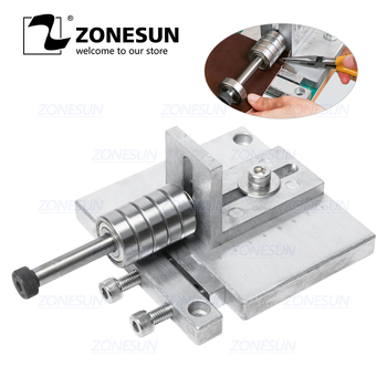 ZONESUN Single Head Leather Cutting ,leather slitter,shoe bags straight paper cutter, Vegetable tanned leather slicer