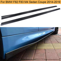 Carbon Fiber Car Side Skirts Apron for BMW F80 M3 F82 F83 M4 Coupe Convertible 2 Door 2014 2019 Car Bumper Side Skirts Body Kits