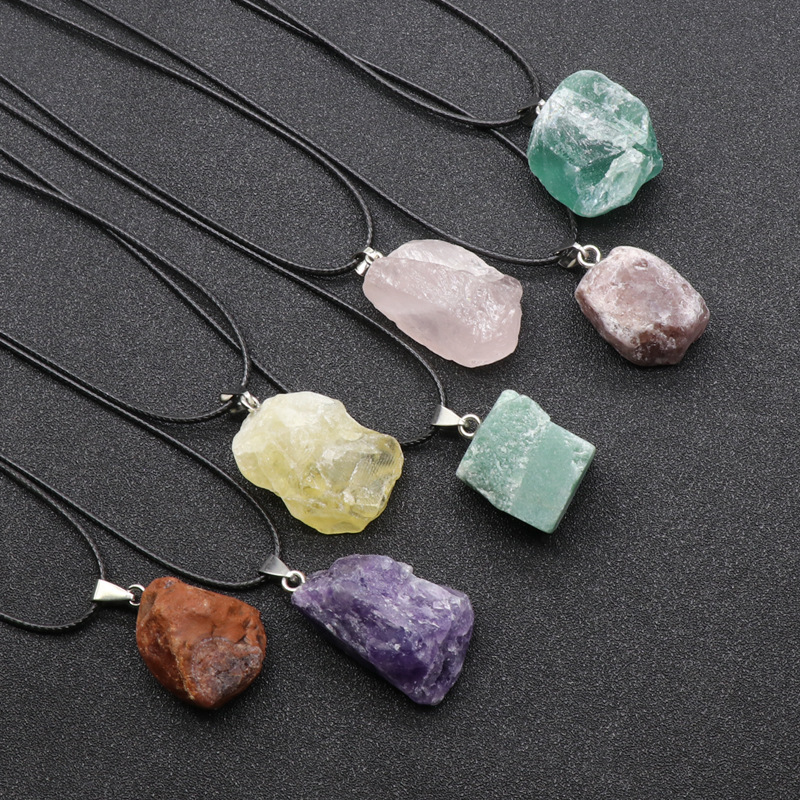 1pc Natural stone pendant\uff0cDrop-shaped pendant\uff0cNatural agate necklace\uff0cAventurine Necklace\uff0cLapis Lazuli Pendant\uff0cdiy accessories\uff0cGift for her