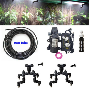 4 Heads Reptile Mist Water Spray Nozzles for Tank cooling with Adjustable Aquarium Aquatic Pet Cooling System  2 pcs nozzles