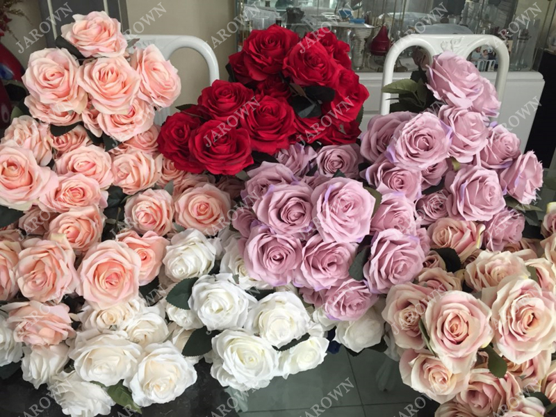 Artificial Silk 1 Bunch French Rose Artificial Flower For Wedding And Party Accessory 12