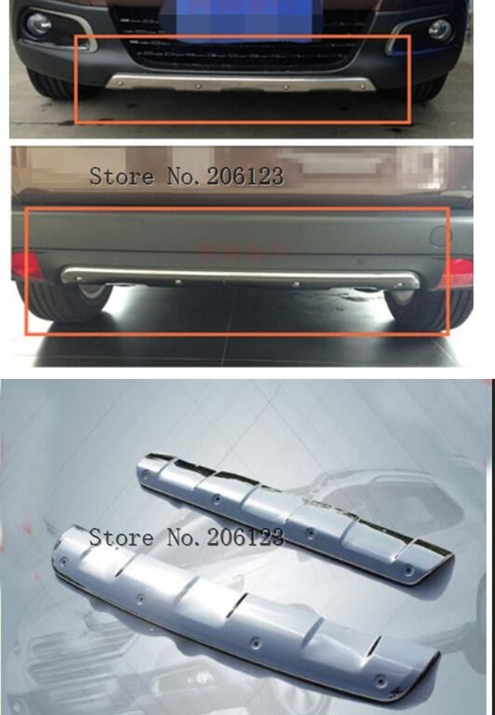 Nouveauté pare-chocs garde pare-chocs protection couvercle plaque de protection pour Peugeot 2008,2 pièces/ensemble, 304 acier inoxydable, qualité ISO9001