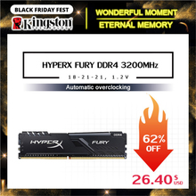Kingston HyperX FURY DDR4 2666MHz 8GB 2400MHz 16GB 3200MHz 데스크탑 RAM 메모리 DIMM 288 핀 데스크탑 게임용 내부 메모리
