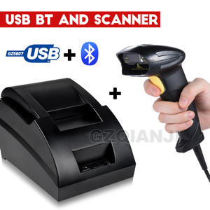 Image 1 - 58mm thermal USB Bluetooth 2 inch receipt Bill printer 58mm usb thermal printer usb pos system for supermarket