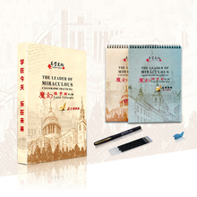 2Books/set Italy Tilt Font Word English Auto Dry Repeat Practice Copybook Calligraphy Exercise 3D Groove Cardboard Book Set Gift
