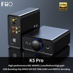 جهاز فك تشفير FiiO K5 Pro AK4493EQ | 768K/32Bit و DSD جهاز كمبيوتر محمول ومكبر للصوت للمنزل والكمبيوتر