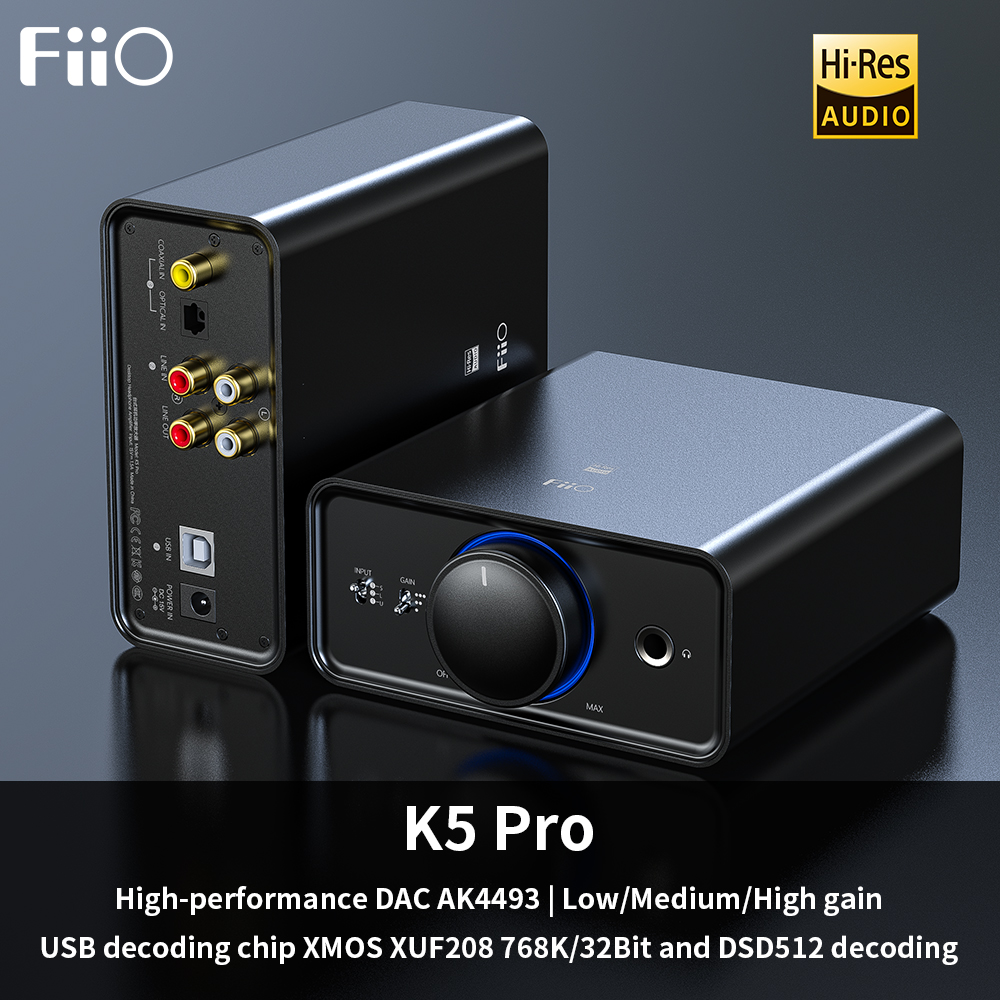 FiiO K5 Pro AK4493EQ 768K/32Bit And DSD Decoding Deskstop DAC And Amplifier For Home And Computer