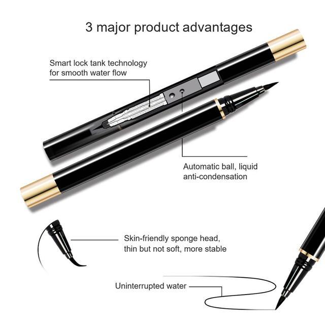 3 Pairs Magic False Eyelash Self-adhesive Lashes Eyeliner Mascara Eyelash Curler Set No Glue No Magnet Eyelash For Dropshipping 2