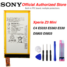 Original Sony LIS1561ERPC Battery For Sony Xperia C4 E5333 E5363 E530 Z3 Mini D5803 D5833 2600mAh for sony xperia z3 compact d5803 d5833 lcd display digitizer sensor glass panel z3 mini assembly with frame phone parts lcd