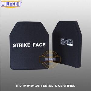 """Image 3 - Militech duas peças 10 """"x 12"""" alumina cerâmica & pe nij iv 0101.06 suporte placa à prova de balas sozinho painel balístico com frete grátis"""