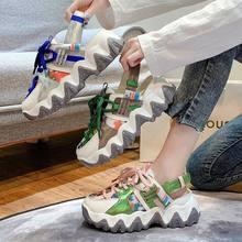 Летние женские кроссовки на платформе; Сандалии плоской подошве;