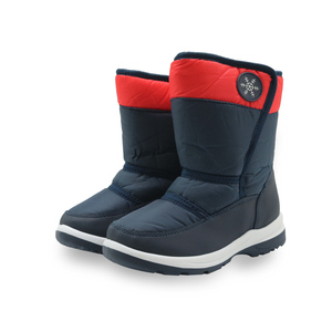 Image 5 - Apakowa Boys and Girls Waterproof Snow Boots Kids Winter Outdoor Mountaineering Skiing Shoes Students Mid Calf Warm Woolen Boots