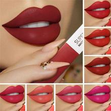 12 Colors Long Lasting Lip Gloss Makeup Lipstick Matte Lipgloss Waterproof Liquid Lip Tint Korean Beauty Women Make Up Tool metal handle make up portable retractable cosmetic lipgloss lipstick lip gloss brush adjustable makeup tool with protect cap
