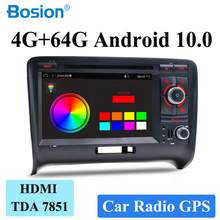 Dsp android 9.0 duplo din carro multimídia dvd player para audi tt 2006v2007 2008 2009 2010 2011 rádio estéreo gps navi dab obd usb(China)