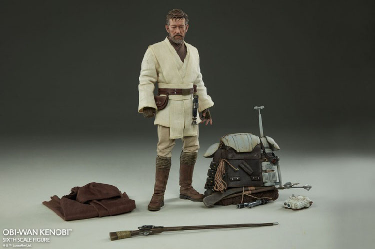 1//6 Scale Toy Star Wars-Obi Wan Kenobi-Marron Tunique Shirt