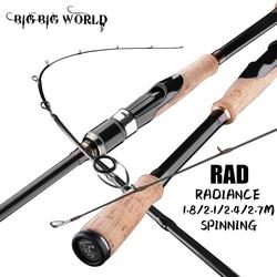BIGBIGWORLD 3 Models Section Baitcasting Travel Super Light Black Carbon Fishing Rod Spinning 1.8/2.1/2.4/2.7m Lure 5g-40g