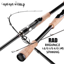 BIGBIGWORLD 3 Models Section Lure Fishing Rod 1.8/2.1/2.4/2.7m 24T Carbon Spinning Baitcasting Travel Lure Rod 5-40g ML/M/MH