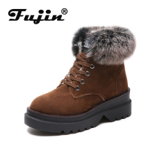 Fujin Women Snow Boots Warm Plush Dropshipping Female Winter New Shoes Ladies Cotton Fashion 2019