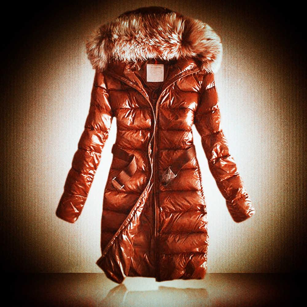 נשים למטה מעיל 2019 חדש חורף פרווה מרופדת מעיל עיבוי חם סלעית Parka לנקבה רוכסן תרמית ליידי עבה הלבשה עליונה
