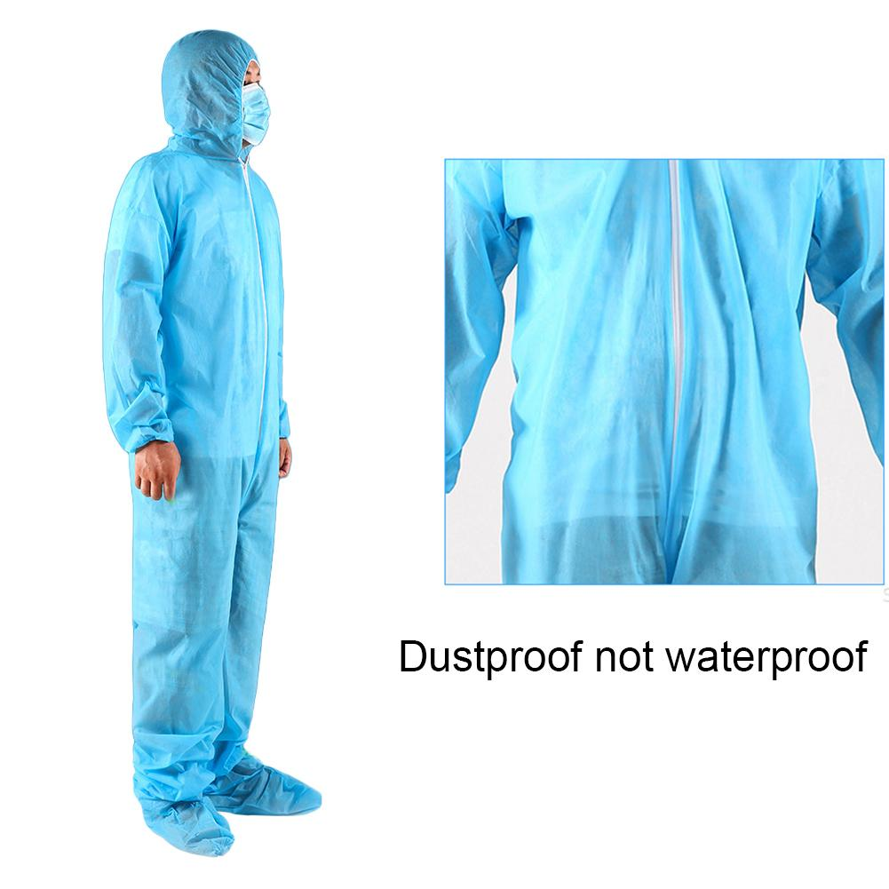 White/Blue Coverall Hazmat Suit Protection Protective Disposable Anti-Virus Clothing Disposable Factory Hospital Safety Clothing