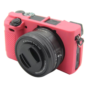 Image 5 - Soft Silicone Rubber Camera Protective Body Case Cover For Sony Alpha A6300 A6400 Camera Bags Case 8 Colors