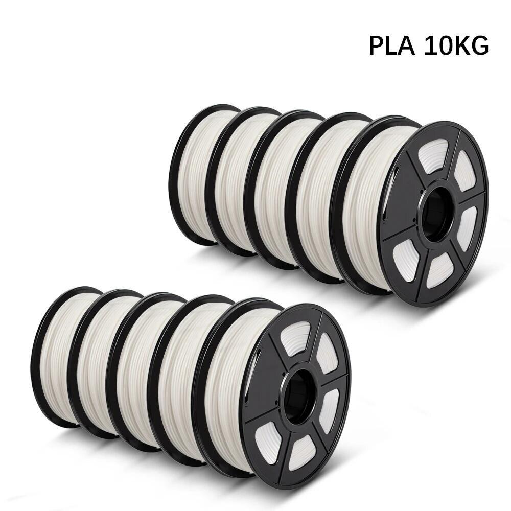 Filamento da impressora 3d pla 5kg 10kg 1.75mm 2.2lbs eco-amigável 100% nenhum material de impressão biodegradável não tóxico da bolha 5/10 rolls