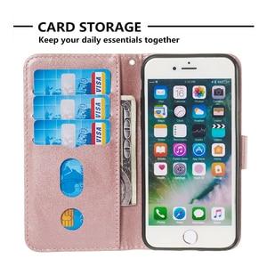 Image 3 - Funda de cuero para iPhone 6 6S 7 8 Plus X XS Max XR 11 Pro Max tarjeta con cremallera funda con ranura para iPhone 6 s 7plus 8plus