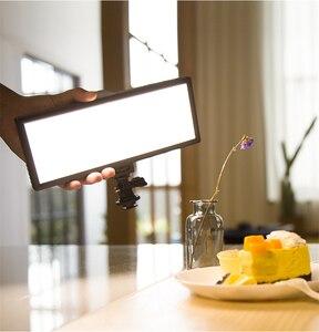 Image 3 - Viltrox L132T Đèn LED Video Siêu Mỏng Màn Hình Hiển Thị LCD Bi Màu Sắc & Mờ DSLR Phòng Thu Ánh Sáng Đèn Với Bảng Điều Khiển máy Quay Phim