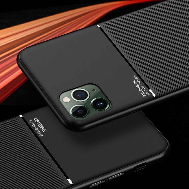 Per il iPhone 11 Pro Caso di Cuoio Sottile Texture Sottile Opaca di Protezione Casi di Telefono Cove Per il iPhone XR X 10 XS max 7 8 6 6s Plus Coque
