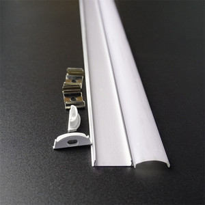 Image 5 - 5pcs di 50 centimetri piatto di U tipo di 6 millimetri di altezza slim led profilo in alluminio, flessibile di scanalatura del led, flessibile opaco bar alloggiamento della lampada