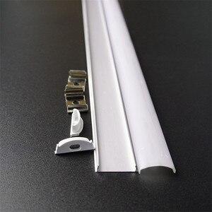 Image 5 - 5pcs of 50cm flat U type 6mm height slim led aluminium profile ,flexible led channel ,bendable matte diffuser bar light housing