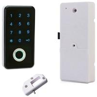 Fingerprint password combination smart lock digital electronic door lock security smart password lock home alarm