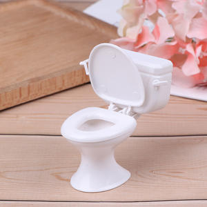 Toilet Miniature Dolls-Accessories Dollhouse-Furniture Bathroom Vintage Toys 1pc