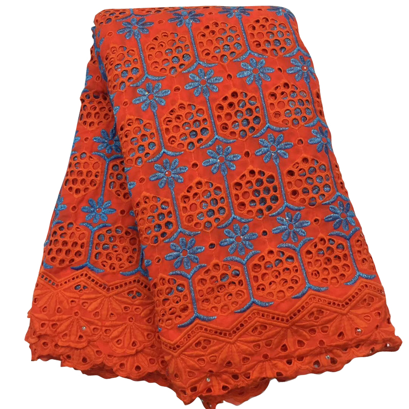 Fashionable African Lace Fabric Brocade Swiss Cotton Hollow Embroidery Lace Fabric For Afican Women Dress кружевное платье