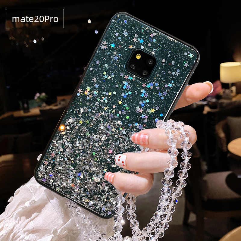Прозрачный чехол для телефона Andme для huawei mate 20 20X Pro P20 Nova 5 Honor 20 блестки пайетки сверкающие однотонные мягкие ТПУ Силиконовые