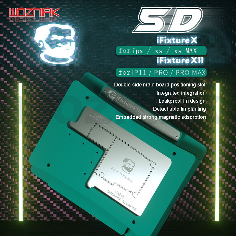 MECHANIC IFixture X X11 5D BGA Stenci Fixture For IPHONE X XS XSMAX 11PRO 11 PROMAX  Middle Level Mainboard Tin Planting Fixed