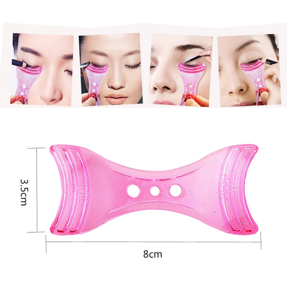 ELECOOL 1pc Reusable Eyeliner Template Stencil Quick Eyeliner Drawing Guide Tool For Women Eyeliner Shaper Eye Makeup Tool
