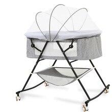 Crib Newborn Baby Cradle Bed Mobile Folding Portable Child Sleeping Basket Bed Crib European Multifunctional