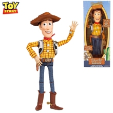 Disney Pixar Toy Story 4 Sheriff Woody Cowboy can speak action figure doll joint movable cartoon anime model children toy gift