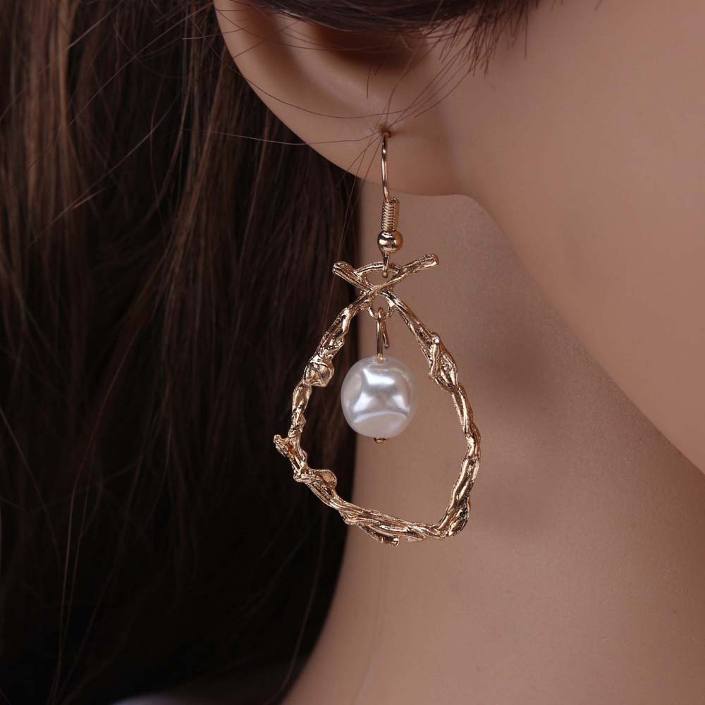Asymétrique étoile Lune Boucles D/'oreilles Femmes Mode Tempérament Coréen Boucles d/'oreilles HY