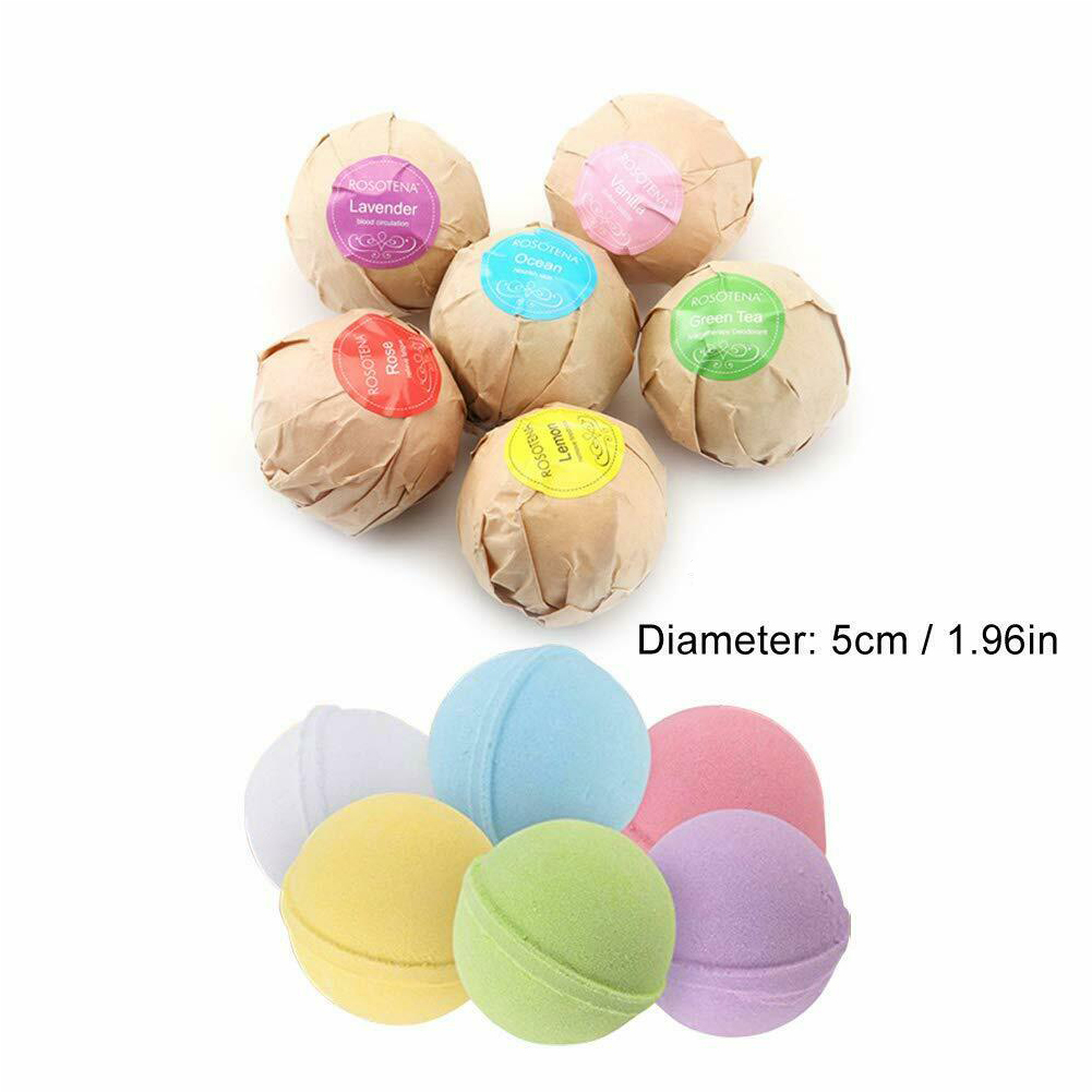 6 bath bombs